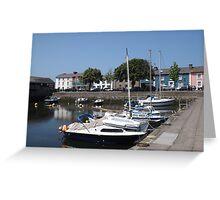 Boats At Aberaeron, West Wales Greeting Card