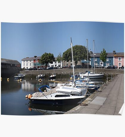 Boats At Aberaeron, West Wales Poster