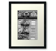 Stairs & Windows Framed Print