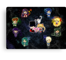 Sailor Moonies Canvas Print