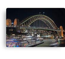 Harbour Bridge 1 Vivid 2016 Canvas Print