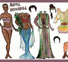 Annika, Underhill Paper Doll by neuroticowl