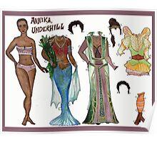 Annika, Underhill Paper Doll Poster