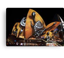 Opera House 3 Vivid 2016 Canvas Print