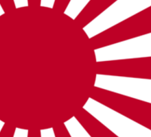 Ensign of the Imperial Japanese Navy and the Japan Maritime Self-Defense Force Sticker