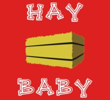 Hay Baby (Dark) One Piece - Short Sleeve