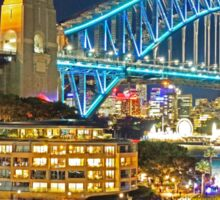 Harbour Bridge 3 Vivid 2016 Sticker