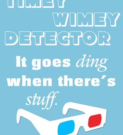 Doctor Who - Timey Wimey Detector 3D Glasses Sticker