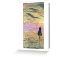 Sail Into The Sunset Greeting Card
