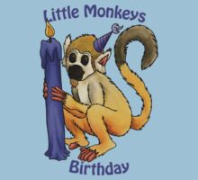 Little Monkeys Birthday Kids Tee