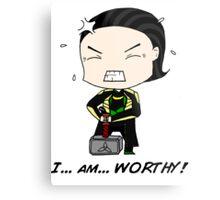 "Loki - ""I am worthy!"" Metal Print"