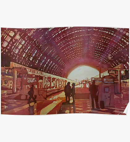 Dawn at the Station Poster