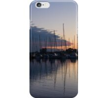 The Urge to Sail Away - Violet Sky Reflecting in Lake Ontario in Toronto, Canada iPhone Case/Skin