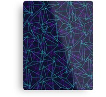 Abstract Geometric 3D Triangle Pattern in  turquoise/ purple  Metal Print