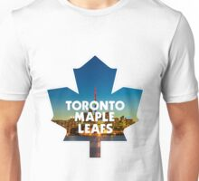 Toronto Maple Leafs Logo with Skyline Unisex T-Shirt