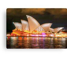 Opera House 1 Vivid 2014 Canvas Print