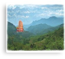 TAIWANESE TEMPLE Canvas Print