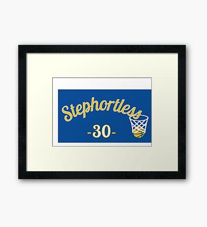 Stephortless - Steph Curry basketball t-shirt Framed Print