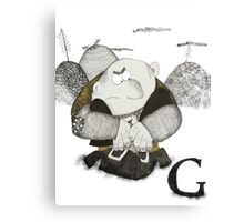 G is for Giant Canvas Print