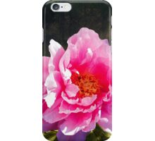 Morning Light, a mossy forest and a bright peony flower, landscape iPhone Case/Skin