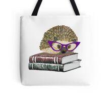 Adorable Literary Hedgehog wearing Glasses Tote Bag