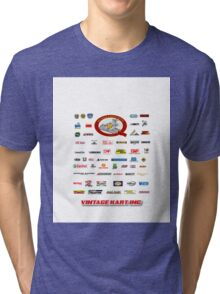 QVHK Vintage Karting Brands Tri-blend T-Shirt