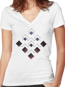 Space Contained Women's Fitted V-Neck T-Shirt