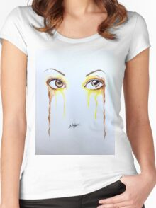 Colorful Eyes - Belle Women's Fitted Scoop T-Shirt