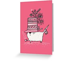 Cup of Tea Cat Greeting Card