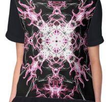 pink nova on Black Chiffon Top