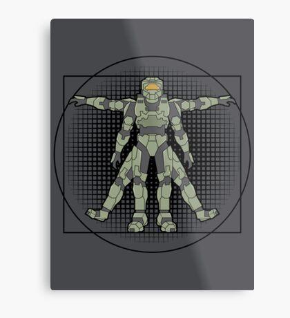 Vitruvian Spartan Metal Print
