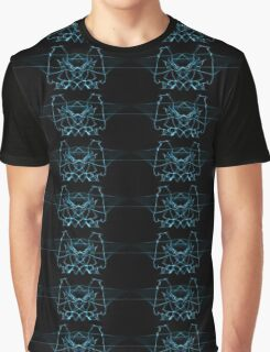 blue on Black Graphic T-Shirt