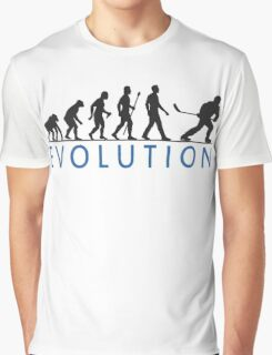 Funny Ice Hockey Evolution Of Man T Shirt Graphic T-Shirt