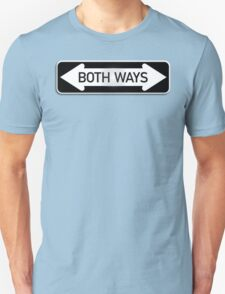 Both Ways Street Sign - LGBT Unisex T-Shirt