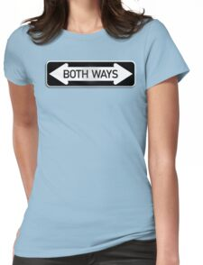Both Ways Street Sign - LGBT Womens Fitted T-Shirt