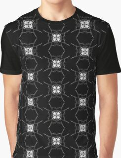 white square on Black Graphic T-Shirt