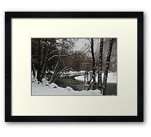 Snowy river in Yosemite Framed Print