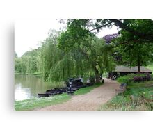 Weeping Willow, English Countryside Canvas Print