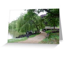 Weeping Willow, English Countryside Greeting Card