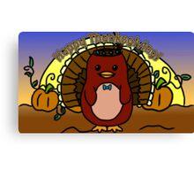Thanksgiving - Dapper - Moo and Friends Canvas Print