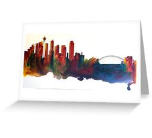 Floating City Sydney Designer Cushion Greeting Card