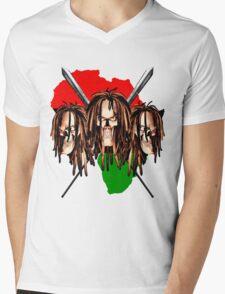 Warrior Skulls Mens V-Neck T-Shirt