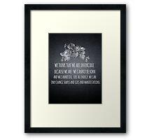 Invincible Framed Print