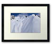 Aerial Photo New Zealand Alps Framed Print