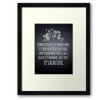 Beautiful Over There Framed Print