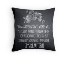 Beautiful Over There Throw Pillow