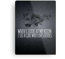Girl Who Loves Books Metal Print