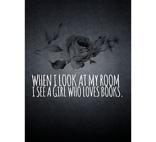 Girl Who Loves Books Photographic Print