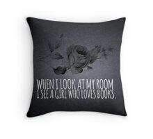 Girl Who Loves Books Throw Pillow