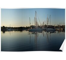 Reflecting on Yachts - Hot Summer Afternoon Mirror Poster